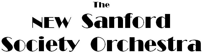 New Sanford Society Orchestra
